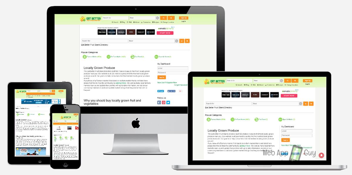 Responsive website - Directory Website