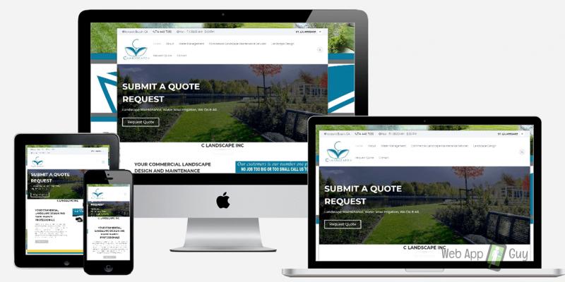 landscape design website - responsive web design